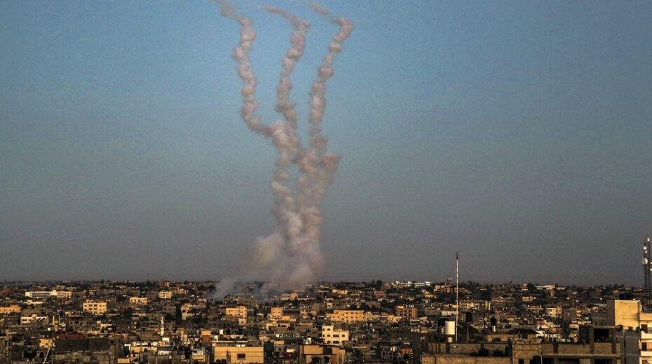 Hamas rockets are fired toward Israel