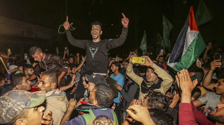Gaza celebrations of victory over Israel
