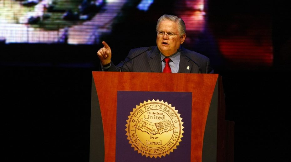 John Hagee speaks at a Christians United for Israel event in 2010
