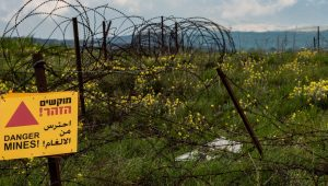 Golan is a minefield