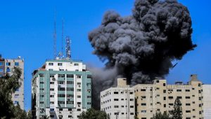 Gaza media tower brought down by IDF