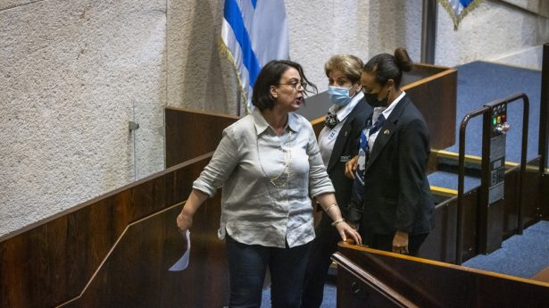 ...and then MK Galit Distel Atbaryan (also Likud) is sent packing, as well.