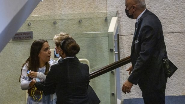 MK May Golan (Likud) is ejected from the plenum for disrupting the proceedings...