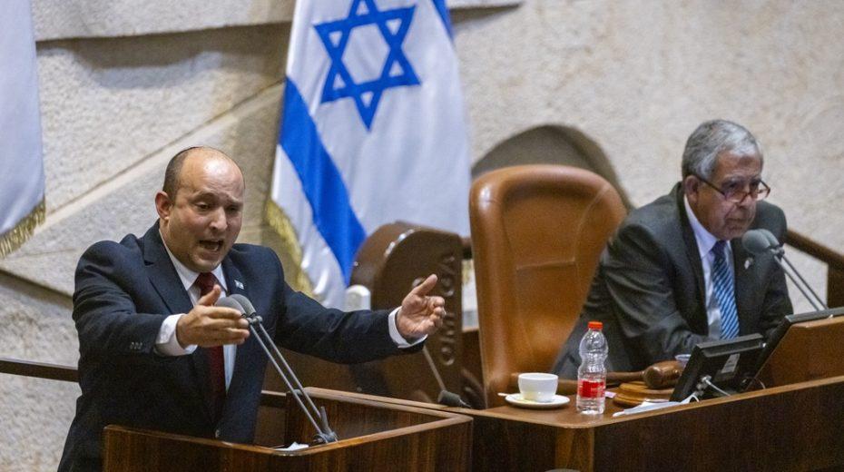 Prime Minister Naftali Bennett takes aim at his predecessor, Benjamin Netanyahu