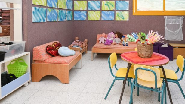 View of a kindergarten ahead of the opening of the new year, in Katzrin, northern Israel, August 29, 2021.