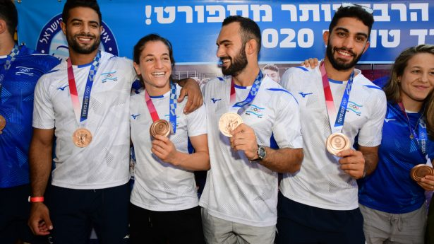 Israeli judokas return home from the Olympic Games in Tokyo after winning bronze in the team competition. Israel medaled in three events, making this the Jewish state's most successful Olympic showing ever.