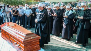 Druze mourners at the funeral of Sahar Ismail, a true warrior for the State of Israel.