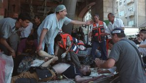 Palestinian terrorists have been handsomely rewarded for their role in the grizzly 2001 bombing of the Sbarro pizzeria in downtown Jerusalem.