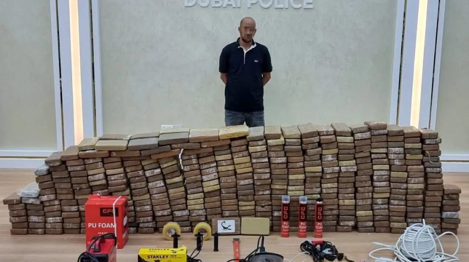 An Israeli Arab is arrested in Dubai while trying to smuggle half a ton of cocaine