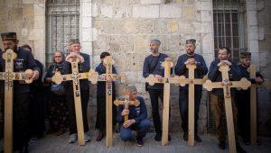 Orthodox Christians mark Easter in Jerusalem's Old City.