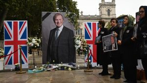 Memorial for MP Sir David Amess who was stabbed to death in a church while meeting with constituents last week.